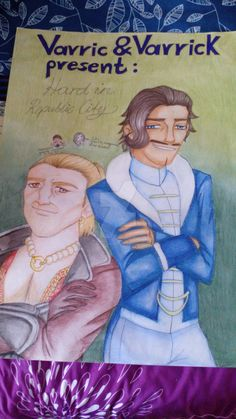"""This is actually a birthday present to my friend, but I found this Dragon Age x Avatar crossover so great that I had to share it with you all. So what would happen if Varric Tethras and Varrick of the Southern Water Tribe would meet? Right! A new buisness idea will be born. Varric writes a remake of his """"Hard in Hightown"""" novel with Varrick as his producer and rename it """"Hard in Republic City"""". Cassandra greatly approves (+100 Heart ) Lin greatly disapproves (+100 Bullsit)"""