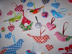 oilcloth ornaments