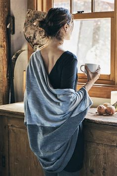 Cocoon Cardigan by Amour Vert Coffee Girl, I Love Coffee, Cocoon Cardigan, Foto Art, Jolie Photo, Poses, Pose Reference, Figurative Art, Female Art