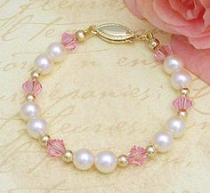 For Hallie- 14kt gold and pearl baby bracelet.