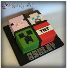 Minecraft Cake Pops, Minecraft Torte, Pastel Minecraft, Minecraft Pasta, Minecraft Birthday Cake, Minecraft Crafts, Minecraft Skins, 8th Birthday, Ideas Minecraft