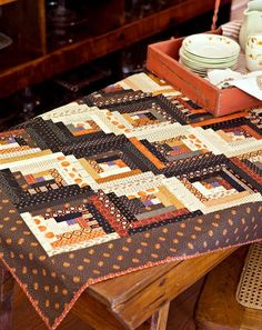 Quilt Inspiration: Free pattern day - Thanksgiving