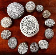 Mandalas on stones