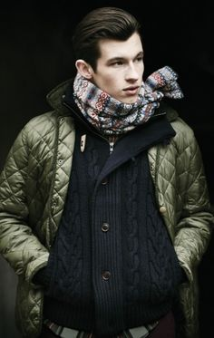 Barbour Men's Heritage Collection Quilted Dollar bill Green