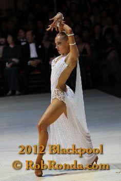 White and lace latin dress