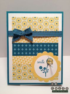 Daffodil delight and island indigo... a great color combo.