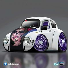 Weird Cars, Cool Cars, Beetle Drawing, Volkswagen Beetle Vintage, Vw Classic, Top Luxury Cars, Truck Art, Vw Cars, Car Drawings