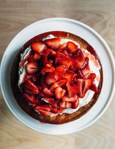 Strawberry yogurt shortcake