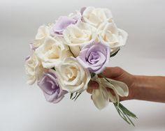 peonies wedding bouquet paper flower bouquet by FlowerDecoration
