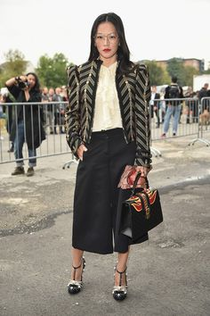 Tina Leung  attends the Gucci show during Milan Fashion Week Spring/Summer 2017 on September 21, 2016 in Milan, Italy.
