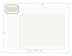 This Badge Tracker Printable Checklist was designed at the request of one of my readers. Because I know there are many programs out there that use badges, I chose to leave the title basic so that you can use it for more than just scouts or brownies.