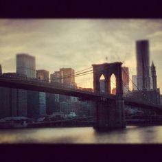 Brooklyn Bridge from the water #brooklynbridge #nyc  (Taken with instagram)