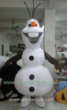 Olaf Snowman Mascot-Aris Fancy Dress Costumes Ltd