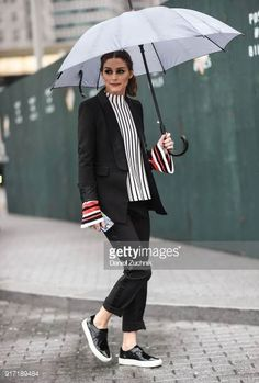 Olivia Palermo is seen outside the Tibi show during New York Fashion Week Women's A/W 2018 on February 11 2018 in New York City