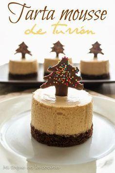 Mi toque en la cocina: Tarta mousse de turrón Más Mini Desserts, Delicious Desserts, Cake Cookies, Cupcake Cakes, Cheesecake Recipes, Dessert Recipes, Desserts Around The World, Xmas Food, Sweet Recipes