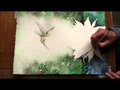 Zoe's Vision - High Speed Watercolor Painting