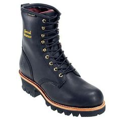 Chippewa Boots: Men's 73051 Black Waterproof Insulated Logger Boots,    #Boots,    #73051,    #ChippewaBoots
