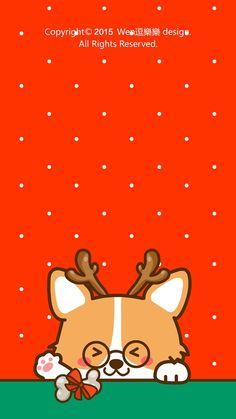 new Ideas cats cartoon illustration dogs Kawaii Wallpaper, Wallpaper Iphone Cute, Animal Wallpaper, Disney Wallpaper, Cute Corgi, Corgi Dog, Christmas Dog, Christmas Drawing, Cute Christmas Wallpaper