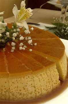 Flan de Champagne (Champagne flan) and Flan de Coco y Chocolate (Coconut and chocolate flan)