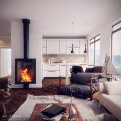 Interior design small apartment Furniture, Room, Interior, Home, Small Apartments, Eames Lounge Chair, Small Designs, Interior Design, Living Room Designs
