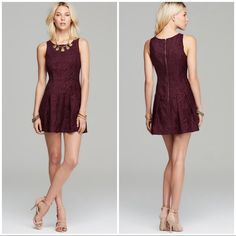 """Free People Berry Wine Chenille Zebra Dress NWT Free People Mulberry Combo textured weave chenille zebra drop waist dress! This chic dress features a textured weave to give the chenille a raised effect in the fabric, drop wait, sleeveless tank, round neck, pleated drop wait with pockets, and hip exposed zipper closure at the back, detail seaming.  75% Rayon/25% polyester, Hand wash  Chest 36"""", Waist 33"""", Length 33"""" Free People Dresses Mini"""