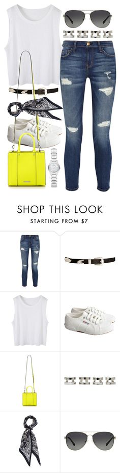 """""""Outfit for shopping"""" by ferned ❤ liked on Polyvore featuring Current/Elliott, ASOS, Superga, Rebecca Minkoff, Maison Margiela, Michael Kors and Burberry"""