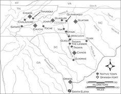 mapa de situación del Fuerte San Juan, Apalaches