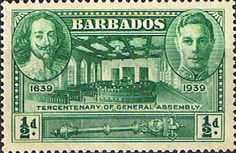 Barbados 1939 SG 257 Tercentenary of General Assembly Fine Mint SG 257 Scott 202 Other Old Postage Stamps Here