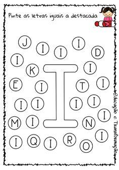 Blog Educação e Transformação: 👍 Alfabeto: pintando as letras Letter Worksheets For Preschool, Homeschool Preschool Curriculum, Alphabet Tracing Worksheets, Tracing Letters, Free Preschool, Alphabet Activities, Preschool Learning, Preschool Activities, Bingo