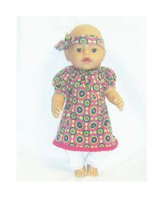 dukkeklær til dukke 43 cm, kjole tilbud