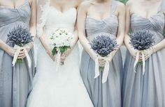 lavender... symbolizes love & loyalty and it smells so good and looks so beautiful (love these boutonnieres too)!