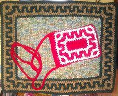 Ravelry: Greek Key Border & Pouch pattern by Elizabeth Ham