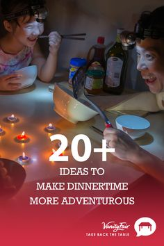 Eat dinner in the dark! Get your kids excited for family dinner with these fun theme nights and Take Back the Table.