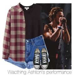 """Wacthing Ashton's performance"" by mmbrambilla ❤ liked on Polyvore featuring Nomia, Levi's, Converse and Uniqlo"