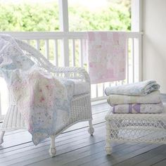 Love these pastel quilts | Shabby Chic