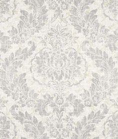 Bedroom curtains! $26.99/yd at hobby lpbby, $18.35 @ onlinefabricstore.net: Covington Downton Graphite Fabric