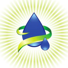 Water symbol on royalty free vector Background with glow effect vector art illustration