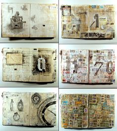 art, Edward Cheverton, illustration, Mixed media, Music, Obsession, sketchbooks, Time