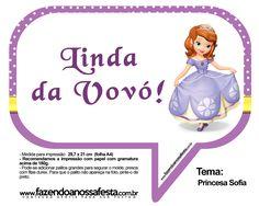 Plaquinhas Divertidas Princesa Sofia 13