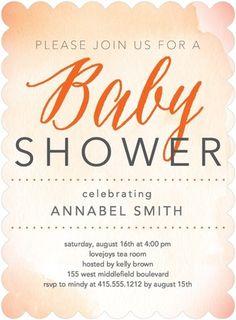 Blissful Glow - Baby Shower Invitations - Magnolia Press - Autumn Orange - Orange : Front