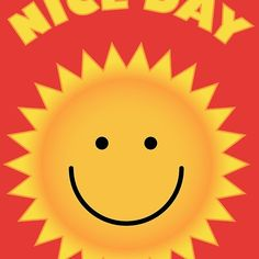 'Nice Day - Smiling Sun ' by enigmaart Sun Illustration, Good Day, Characters, Smile, Collection, Buen Dia, Good Morning, Hapy Day, Figurines