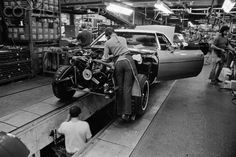 Car Assembly Line in the Oldsmobile Factory