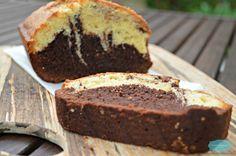 Marble cake // Gateau marbre au chocolat et aux amandes