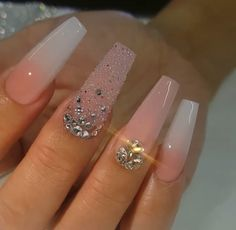 hot acrylic coffin nails trend ideas in 2019 - page 55 o.- hot acrylic coffin nails trend ideas in 2019 – page 55 of 73 52 hot acrylic coffin nails trend ideas in 2019 – page 55 of 73 52 - Glam Nails, Fancy Nails, Bling Nails, Pretty Nails, 3d Nails, Blue Acrylic Nails, Summer Acrylic Nails, Coffin Nails Glitter, Fire Nails