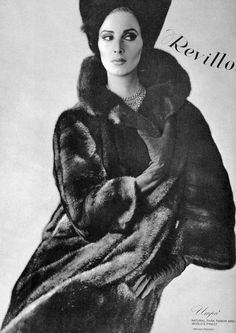 Flickr Wilhelmina in fur coat by Revillon 1963