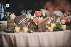 Moss Wood Centerpiece | We used wooden elements such as wooden boxes, log slices and ...