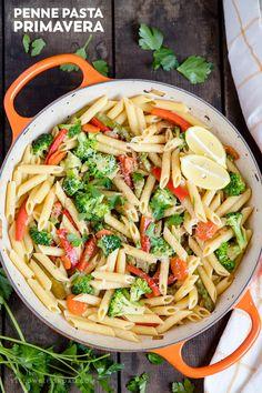 Penne Pasta Primavera | Easy Weeknight Meal | Healthy Food | Dinner | Meal Prep