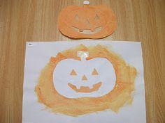 Preschool Crafts for Kids*: Halloween Jack-o-lantern Face Craft