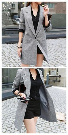 Get this grey color coat in great flashsales right now on Lightinthebox, such a great deal for you to stock up before fall is here!