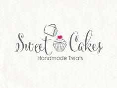 Cupcake logo design and cake logo. Cupcake sugar por AquariusLogos
